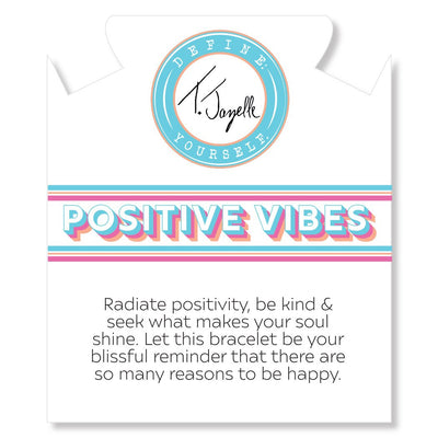 Positive Vibes Collection, Teal Jade 6mm White Jade Nugget Cut