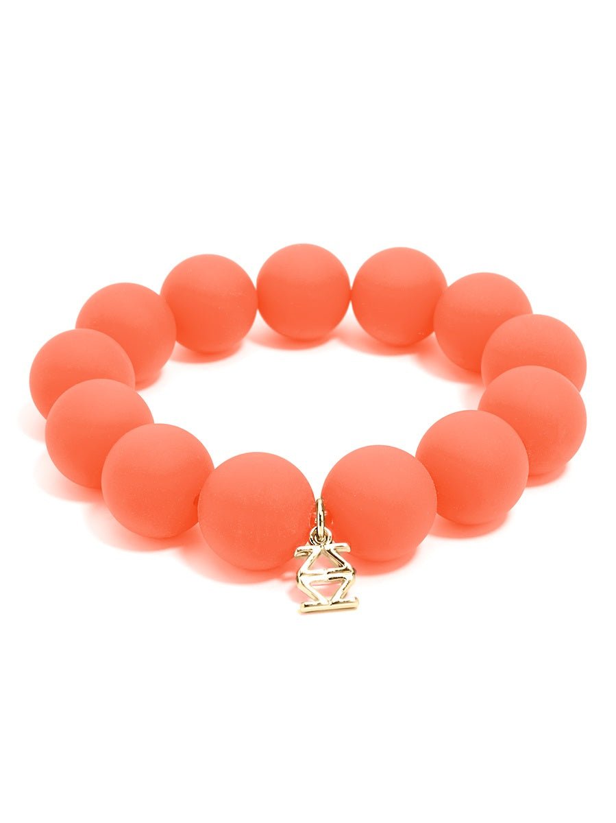 Sissy Chunky Matte Beaded Stretch Bracelet