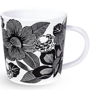 Ceramic Mug, Bedford Blooms White