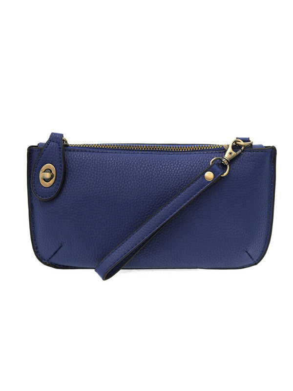 Dark Cobalt Mini Crossbody Wristlet Clutch