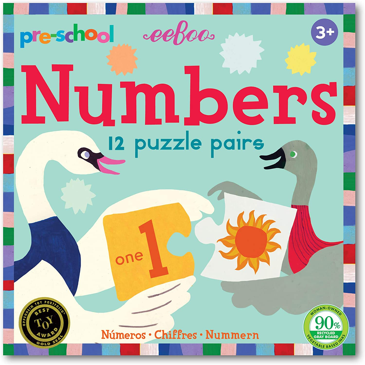 Pre-School Numbers Puzzle Pairs