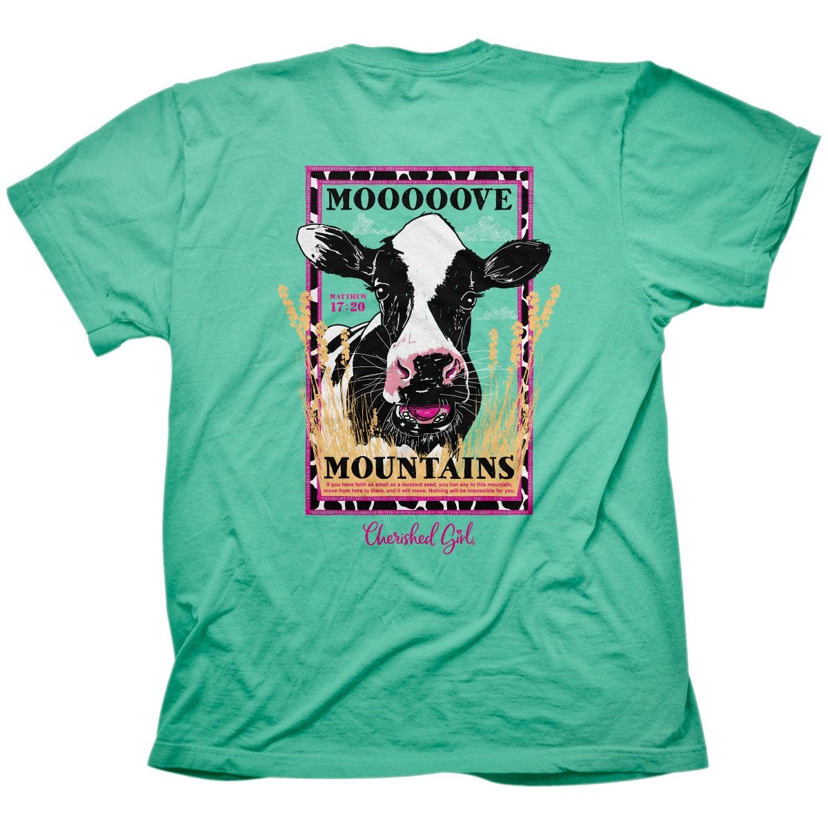 Mooove Mountains Cow Tee