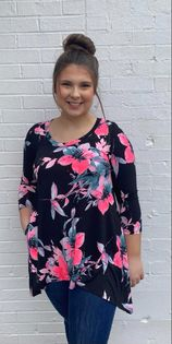 Fabulously Floral Honeyme Top