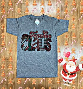 Ms. Claus Teacher Tee