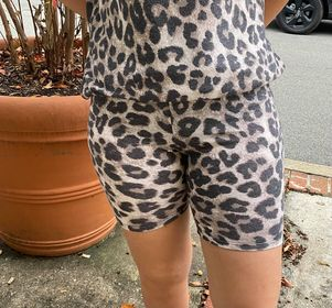Taking Your Time Animal Print Shorts