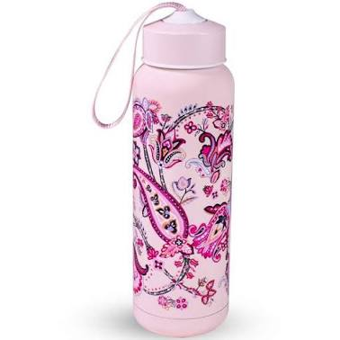 17oz Water Bottle Felicity Paisley Pink