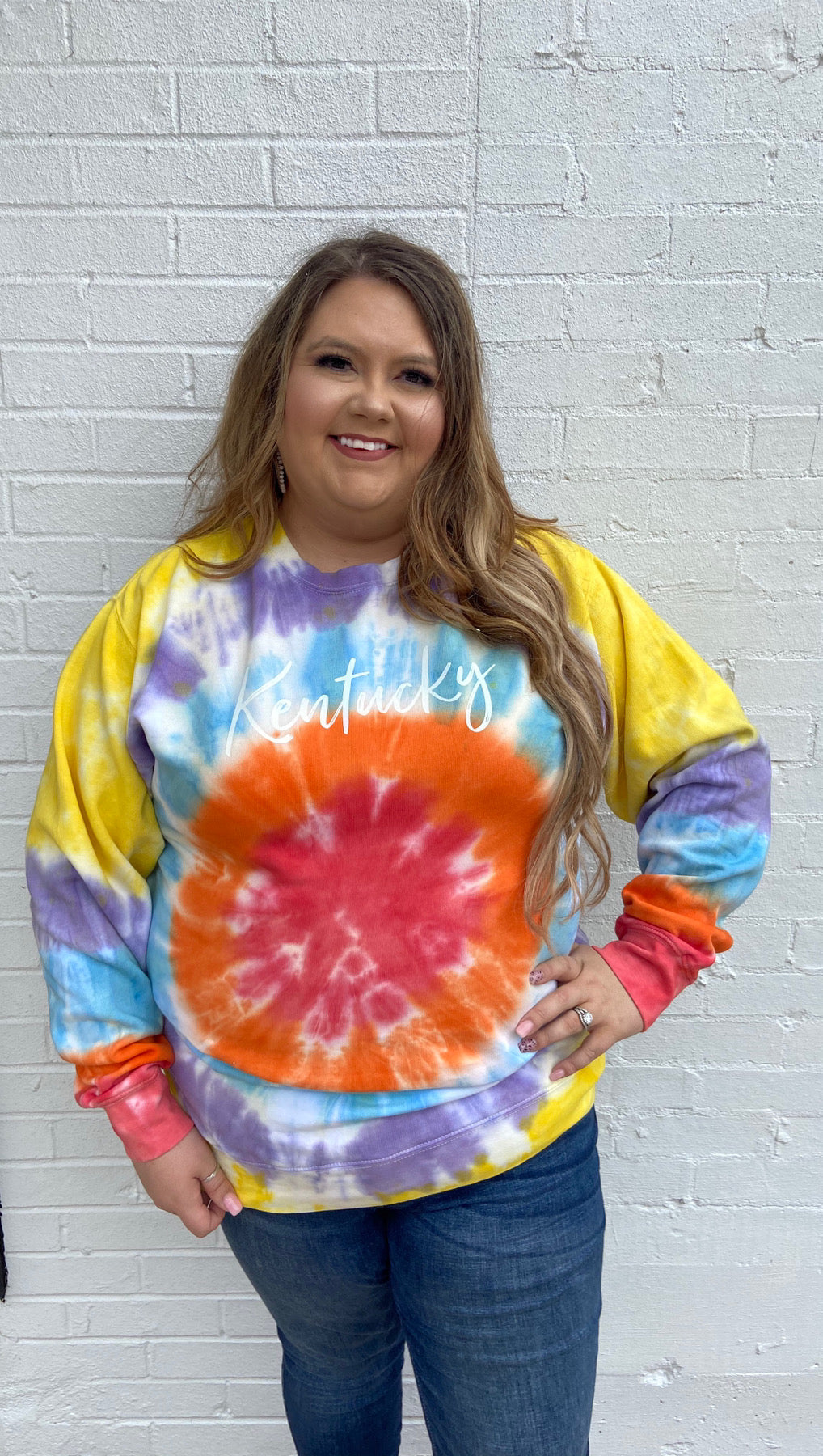 Kentucky Sunburst Tiedye Sweatshirt