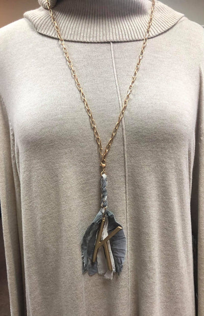 Tassel Initial Necklace