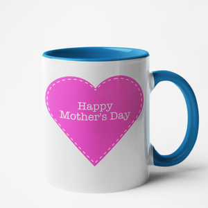Mug bleu Personnalisé Happy Mother's day