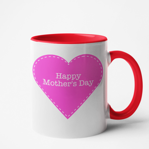 Mug rouge Personnalisé Happy Mother's day