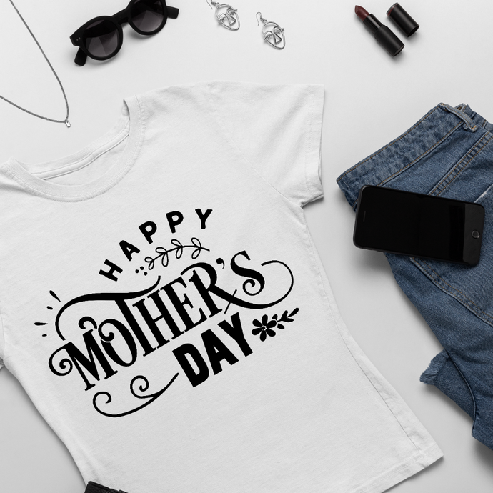 T-shirt Femme Personnalisé Happy mother's day