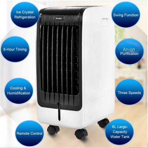 Small Portable Evaporative Air Cooler Fan with Remote Control
