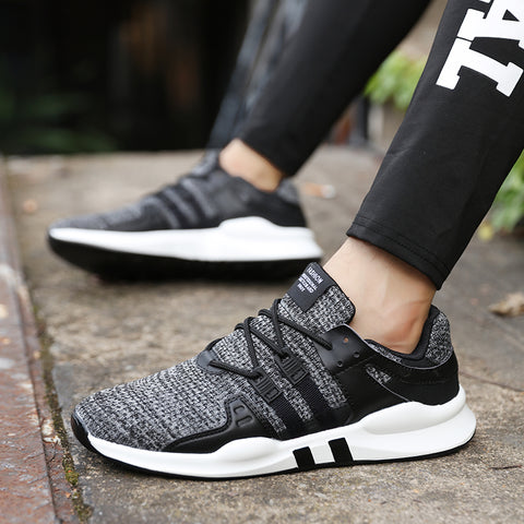 Casual Shoes For Men - Lace up Breathable Mesh - Soft Jogging