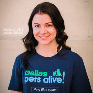 Navy Blue Dallas Pets Alive! Logo t-shirt