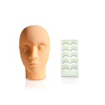 Mannequin Head with Practice Lashes - Lash and Brow Supplies