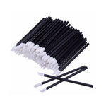 50x Flocked Fibre-Free Disposable Applicators - Black - Lash and Brow Supplies