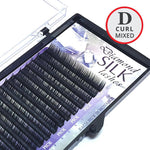 D Curl MIXED size Diamond Silk Lash Tray - Lash and Brow Supplies