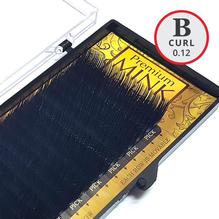 B Curl 0.12mm Premium Mink Lash Tray - Lash and Brow Supplies