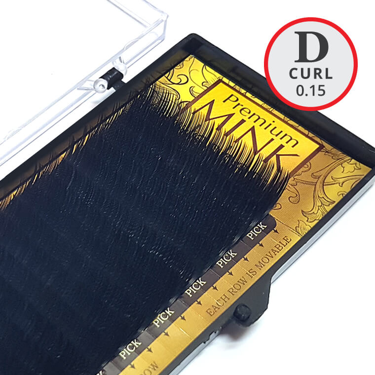 D Curl 0.15mm Premium Mink Lash Tray - Lash and Brow Supplies