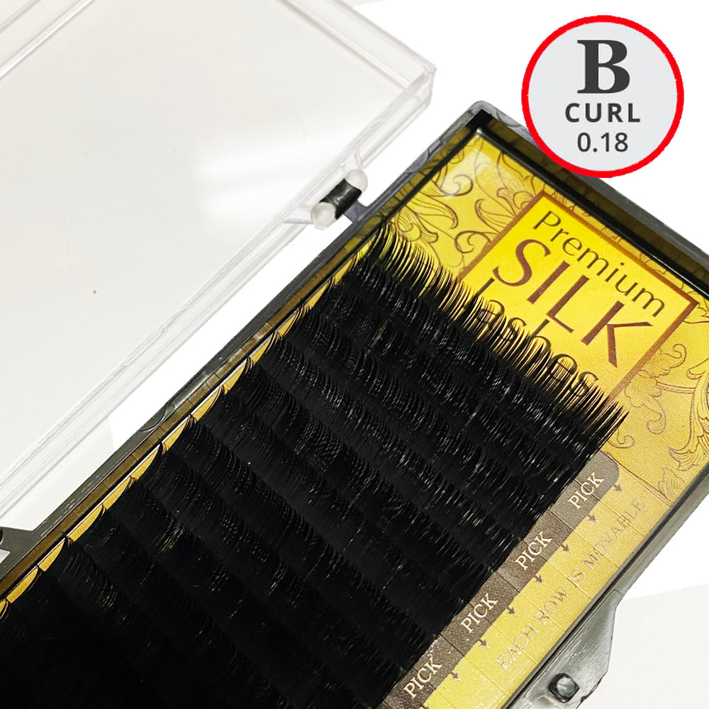 B Curl Premium Silk Lash Tray - Lash and Brow Supplies