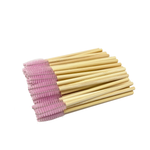 50x Bamboo Mascara Wands - Lash and Brow Supplies