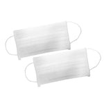 50 High Filtration Disposable Face Masks - White