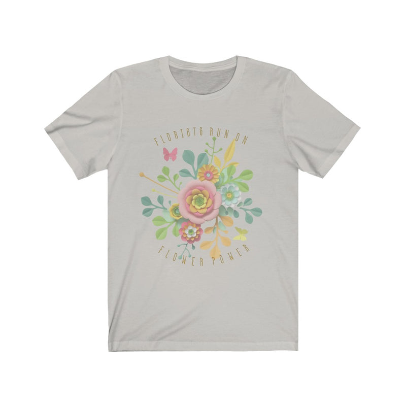 florists run on flower power graphic tee