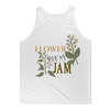 flowers are my jam tank