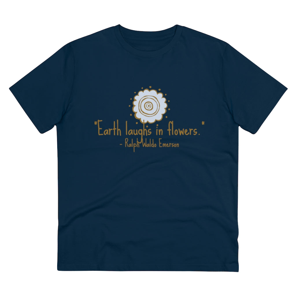 earth laughs in flowers organic tee