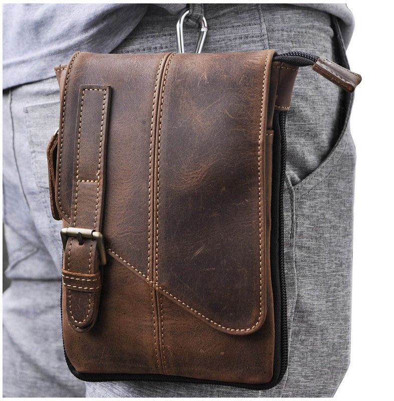 michael leather messenger