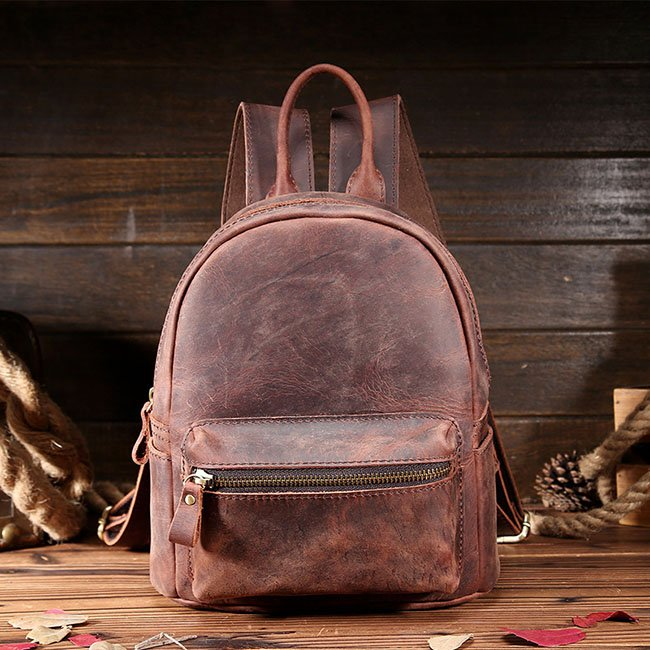 julie leather back pack