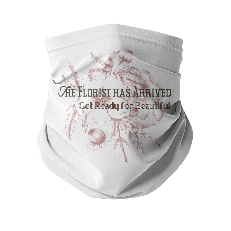 the florist has arrived, get ready for beautiful neck gaiter