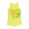 flowers make happy tank top