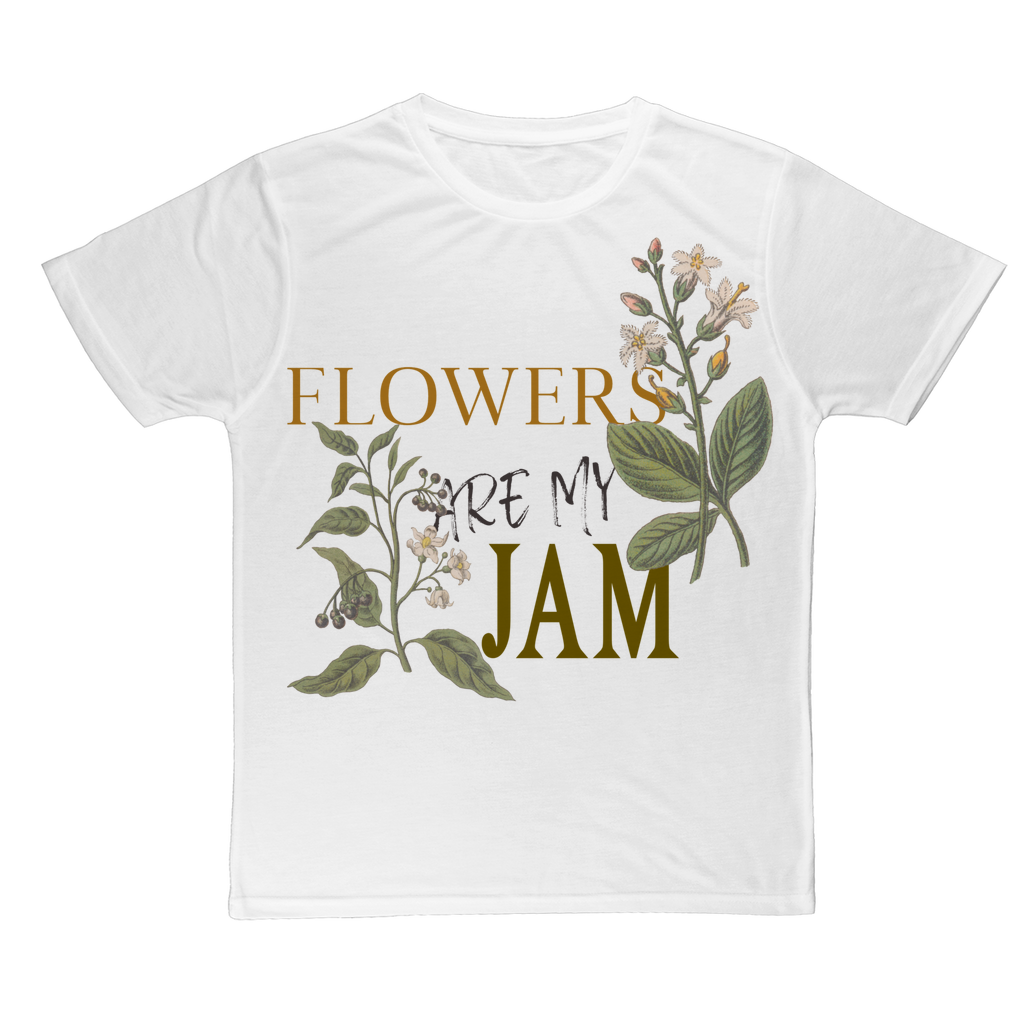 flowers are my jam poly tee