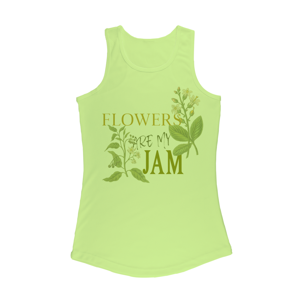 flowers are my jam performance tank