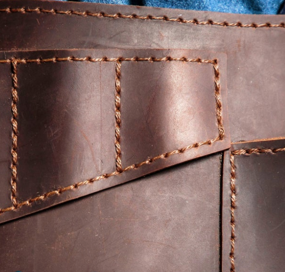marullus angled leather tool belt