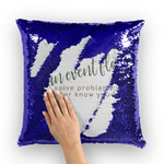 i'm an event florist sequin cushion cover with insert option