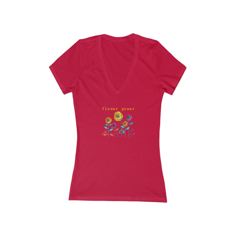 flower power v-neck graphic tee