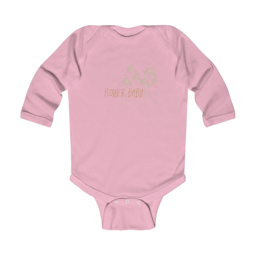 flower baby infant long sleeve onesie