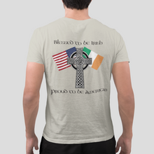 Load image into Gallery viewer, Blessed to be Irish, Proud to be American Heritage Tee