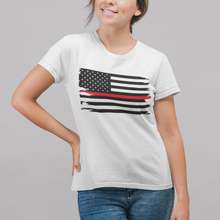 Load image into Gallery viewer, Thin Red Line Flag Women's Tee