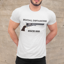 "Load image into Gallery viewer, ""Social Distancing Since 1899"" Men's Tee"