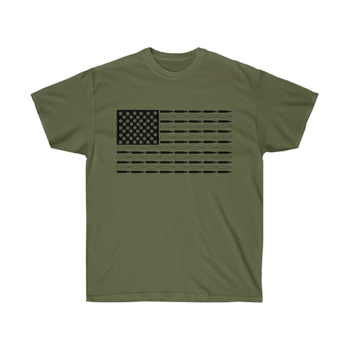 American Bullet Flag Mens T-Shirt