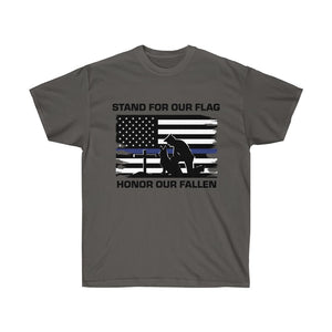 Stand For Our Flag, Honor Our Fallen Blue Line Flag Mens T-Shirt