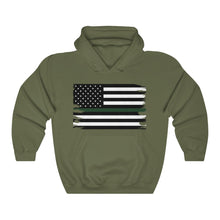 Load image into Gallery viewer, Thin Green Line Flag Hooded Sweatshirt
