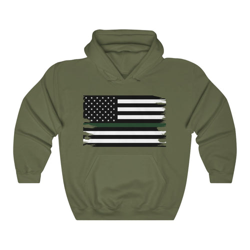 Thin Green Line Flag Hooded Sweatshirt