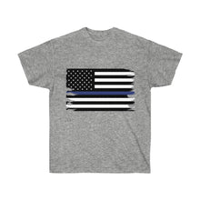 Load image into Gallery viewer, Thin Blue Line Flag Mens T-Shirt