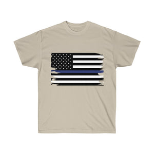 Thin Blue Line Flag Mens T-Shirt
