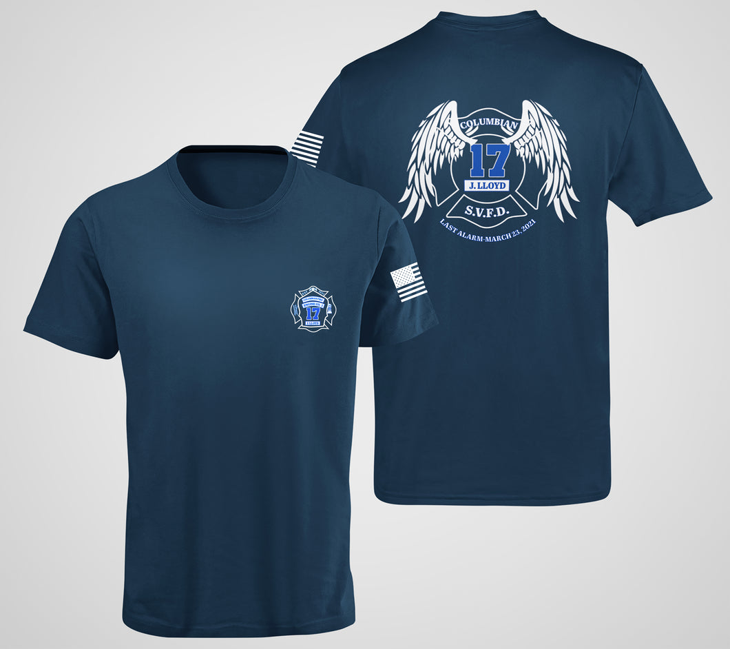 Firefighter Lloyd Memorial T Shirt $10 Per Shirt Donated In Honor of Fallen Firefighter Jared Lloyd of the Spring Valley Fire Department