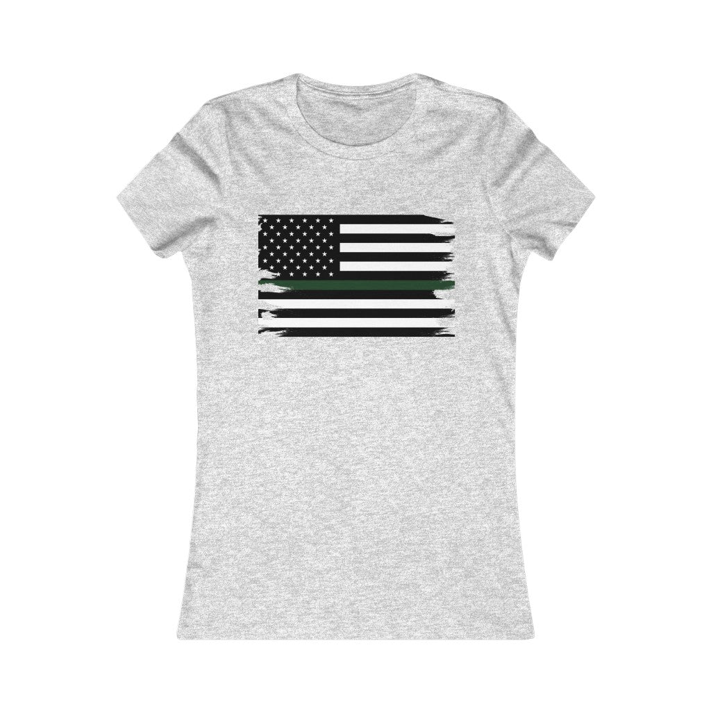 Thin Green Line Flag Women's Tee